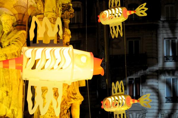 La fontaine aux poissons, Place des Jacobins
