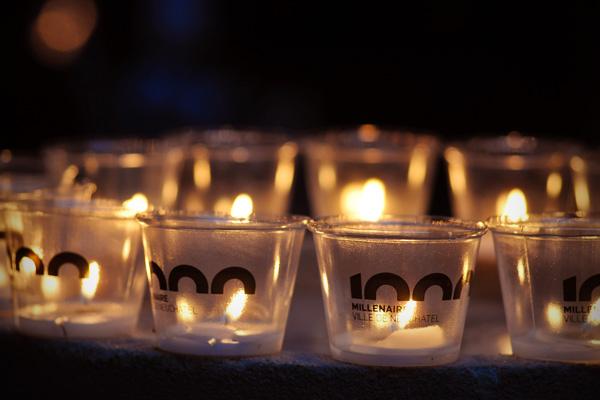 100'000 bougies pour le millénaire de la ville de Neuchâtel